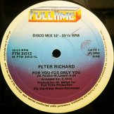 PETER RICHARD / for you for only you