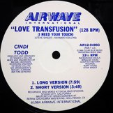 CINDI TODD / love transfusion (i need your touch)