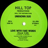UNKNOWN DUO / love with fake words