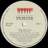 SYLVESTER / too late / trouble in paradise