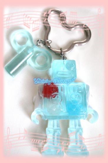 ロボットキーホルダー(ブルー)