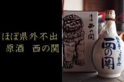 田舎徳利(陶器入り) 西の関 原酒