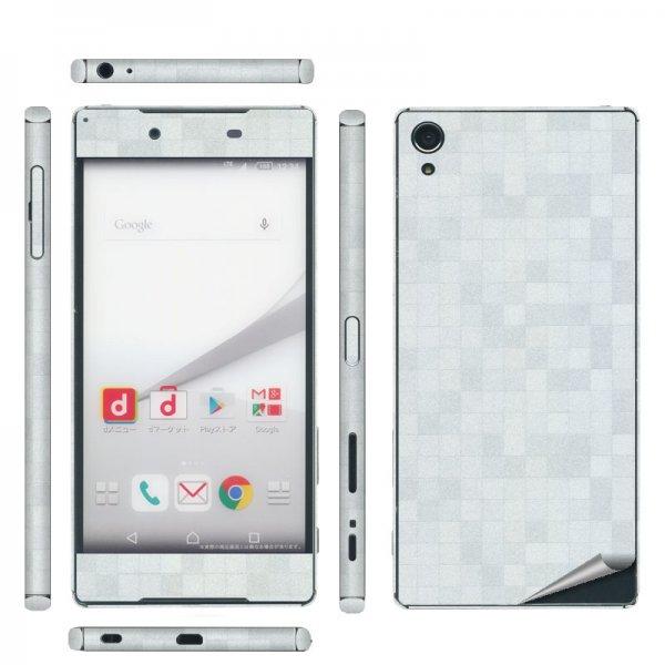 Xperia Z5 Premium SO-03H 側面(おまけ)付 スキンシール◆decoPro デコシート スキンシート 携帯保護シート◆レザ…