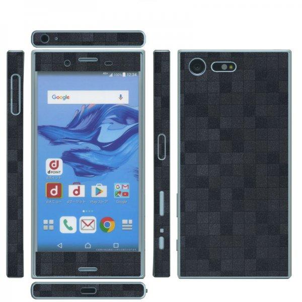 Xperia X Compact SO-02J 側面(おまけ)付 スキンシール◆decoPro デコシート スキンシート 携帯保護シート カーボ…