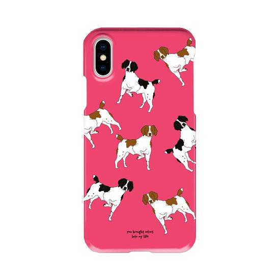 iPhoneケース(ブリタニースパニエル)