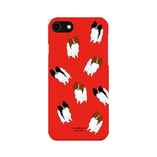 iPhoneケース(パピヨン)