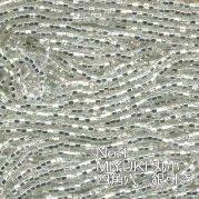 MIYUKI  丸小 糸通しビーズ バラ売り 1m単位 msh1 四角穴 銀