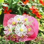 ビーズフラワーキット 秋桜(コスモス)の花束