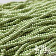 MIYUKI ビーズ 丸小 糸通しビーズ バラ売り 1m単位 ms1069 ペリドット(メッキ)