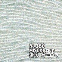 MIYUKI ビーズ 丸小 糸通しビーズ バラ売り 1m単位 ms250 透きオーロラ 無色