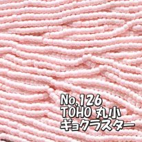 TOHO ビーズ 丸小 糸通しビーズ  お徳用 束 (10m) T126 ギョク ラスター パステルピンク