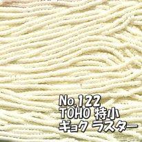 TOHO ビーズ 特小 糸通しビーズ  お徳用 束 (10m)  miniT-122 ギョク ラスター オフホワイト