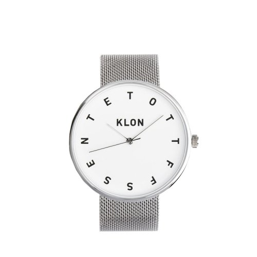 KLON ALPHABET TIME -SILVER MESH- 40mm