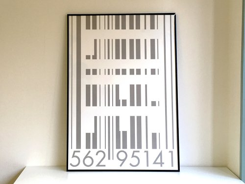 B2 ART GRAPHIC POSTER 『BARCODE-Strip...
