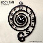 EDDY TIME -ウズマキ− 【おしゃれでユニークなデザイン掛け時計】『送料無料』【オシャレ・モダン】