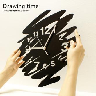 Drawing time  【おしゃれでユニークなデザイン掛け時計】『送料無料』【オシャレ・モダン】