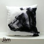 Animal side face for Cushion Grizzly bear(ヒクマ) ふわふわクッション