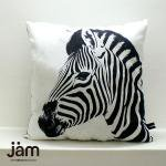 Animal side face for Cushion Zebra(シマウマ) ふわふわクッション