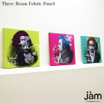 graffiti @the music room 3連ファブリックパネル|Japan Modern Collection