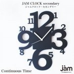 【JAM CLOCK secondary】Continuous Time ウォールクロック壁掛時計 ●