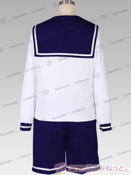 ここみねっと。オリジナル制服 組み合わせ132×132×132色!長袖メンズセーラー服(混紡スカーフ)[受注生産]