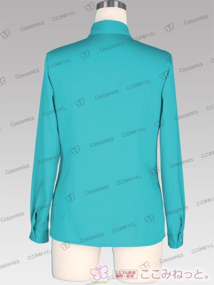 ここみねっと。オリジナル制服 全132色レディースシャツ(長袖/水色)[受注生産]