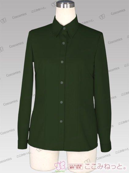 ここみねっと。オリジナル制服 全132色レディースシャツ(長袖/緑系02)[受注生産]