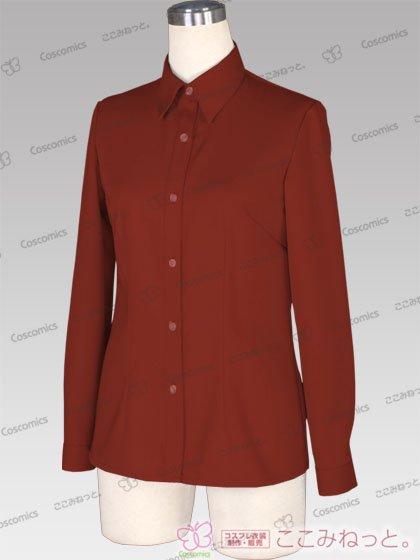 ここみねっと。オリジナル制服 全132色レディースシャツ(長袖/茶色01)[受注生産]