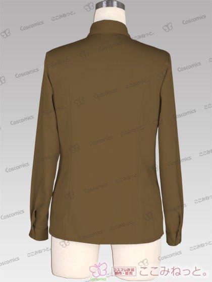 ここみねっと。オリジナル制服 全132色レディースシャツ(長袖/茶色02)[受注生産]