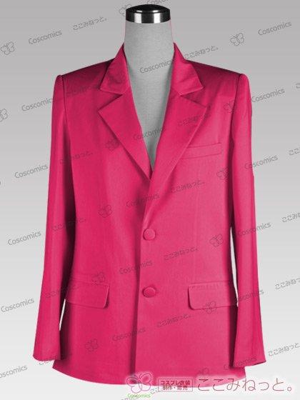ここみねっと。オリジナル制服 全132色メンズブレザー(シングルボタン/ピンク)[受注生産]