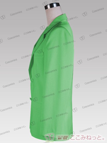 ここみねっと。オリジナル制服 全132色メンズブレザー(シングルボタン/緑系01)[受注生産]