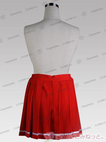 ここみねっと。オリジナル制服 全132色16プリーツスカート(ライン入/赤系)[受注生産]
