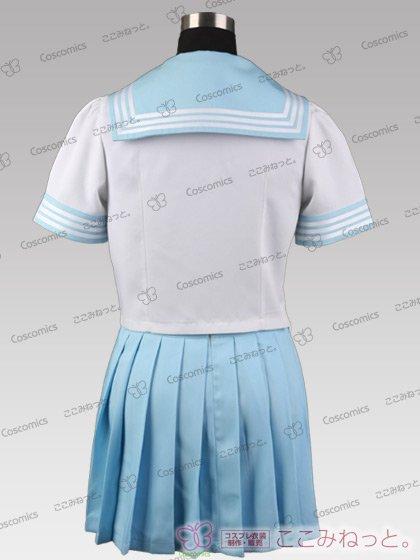 ここみねっと。オリジナル制服 組み合わせ132×132×5色!半袖セーラー服(サテンスカーフ)[受注生産]