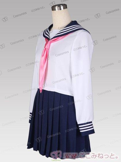 ここみねっと。オリジナル制服 組み合わせ132×132×5色!長袖セーラー服(サテンスカーフ)[受注生産]