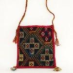 B0957 1960年代トルコ製キリム手織りフォークロア斜め掛けバッグ