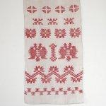 L0077 1950年代ウクライナ製古代幾何学刺繍ホームスパンリネンルシネーク