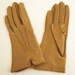 A0349 1950年代アメリカ製 MAGNIN CO タンカラーキッドレザー手袋