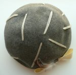 H0066 1960年代アメリカ製Glenoverグレーフエルトx毛糸xフェザーベレーハット