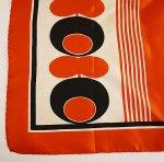 S0003 1960年代イタリア製Cornelia Jamesシルク綾織スクエアースカーフ