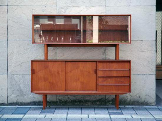 DENMARK Credenza & Glass Shelf 1970s