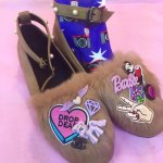 <img class='new_mark_img1' src='//img.shop-pro.jp/img/new/icons50.gif' style='border:none;display:inline;margin:0px;padding:0px;width:auto;' />Deco Fur Flat Shoesデコファーフラットパンプス(Beige)24〜24.5