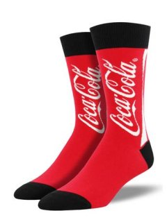 "<img class='new_mark_img1' src='//img.shop-pro.jp/img/new/icons4.gif' style='border:none;display:inline;margin:0px;padding:0px;width:auto;' />SockSmith Men's Novelty Crew ""Coca Cola (コカコーラ)"""