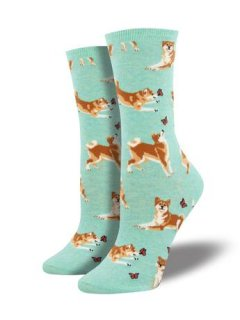 "<img class='new_mark_img1' src='//img.shop-pro.jp/img/new/icons4.gif' style='border:none;display:inline;margin:0px;padding:0px;width:auto;' />SockSmith Novelty Crew ""Shiba Inu"""
