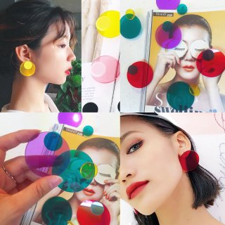 <img class='new_mark_img1' src='//img.shop-pro.jp/img/new/icons4.gif' style='border:none;display:inline;margin:0px;padding:0px;width:auto;' />DoublE Round See-thru Earrings