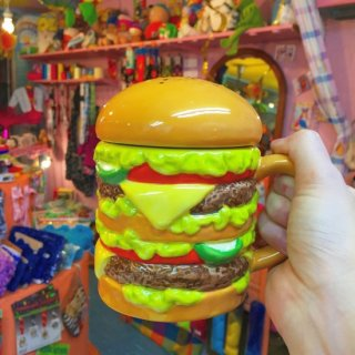 <img class='new_mark_img1' src='//img.shop-pro.jp/img/new/icons50.gif' style='border:none;display:inline;margin:0px;padding:0px;width:auto;' />Hamburger Big Mug with Top