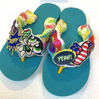 <img class='new_mark_img1' src='https://img.shop-pro.jp/img/new/icons50.gif' style='border:none;display:inline;margin:0px;padding:0px;width:auto;' />Tie-Dye Yarn Sandals(Green)