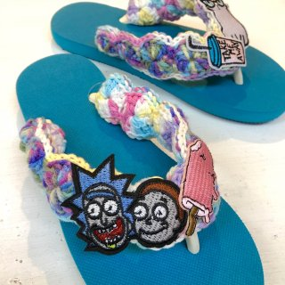 <img class='new_mark_img1' src='https://img.shop-pro.jp/img/new/icons4.gif' style='border:none;display:inline;margin:0px;padding:0px;width:auto;' />Tie-Dye Yarn Sandals(Ocean)
