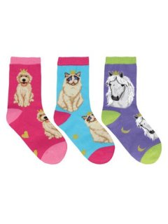 "<img class='new_mark_img1' src='//img.shop-pro.jp/img/new/icons4.gif' style='border:none;display:inline;margin:0px;padding:0px;width:auto;' />Sock Smith<br>【Kids】Novelty crew ""Reigning Cats & Dogs"""