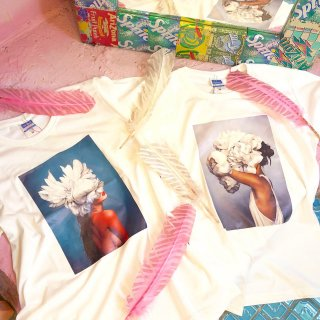 <img class='new_mark_img1' src='//img.shop-pro.jp/img/new/icons50.gif' style='border:none;display:inline;margin:0px;padding:0px;width:auto;' />Girl Art Print Tee Shirts