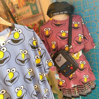 <img class='new_mark_img1' src='//img.shop-pro.jp/img/new/icons50.gif' style='border:none;display:inline;margin:0px;padding:0px;width:auto;' />Elmo Big Tee Shirts